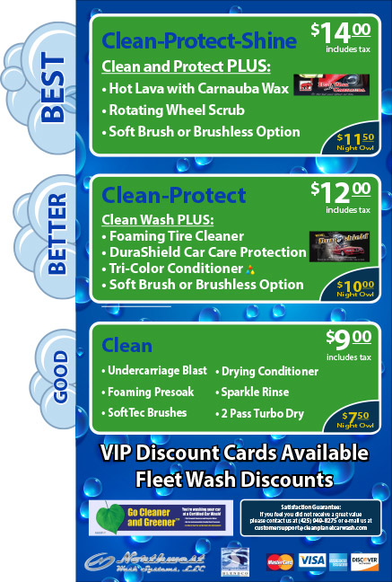 Clean Planet Car Wash Packages